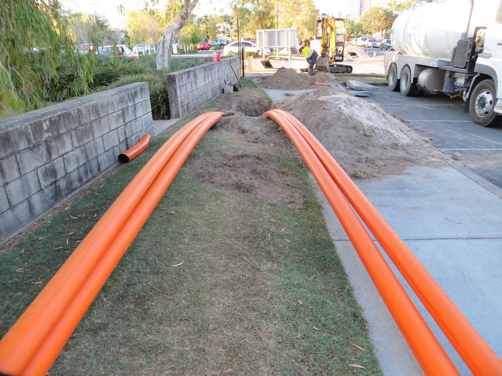 Horizontal drilling install of Power Services