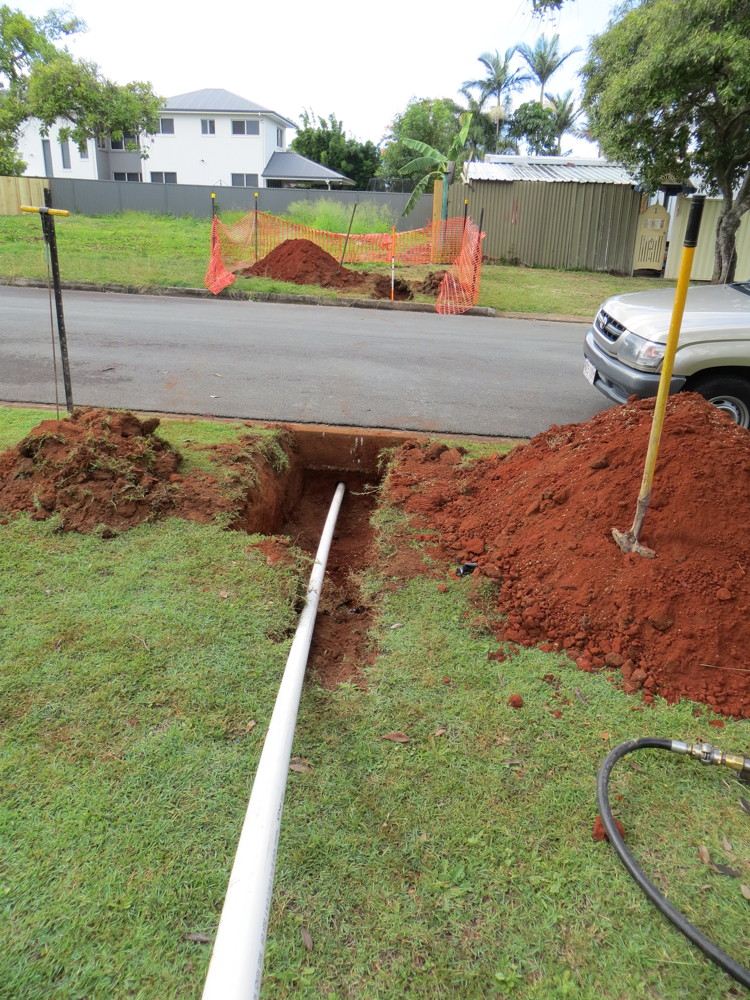 Horizontal drilling install of Communications Services