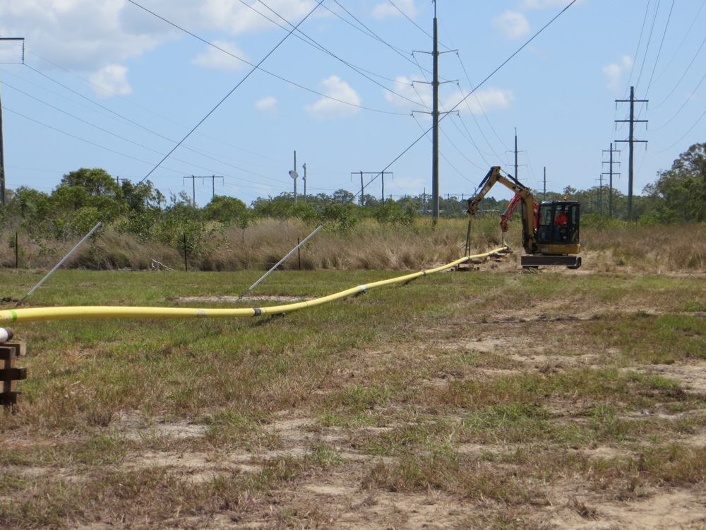Horizontal drilling for install of Gas Services