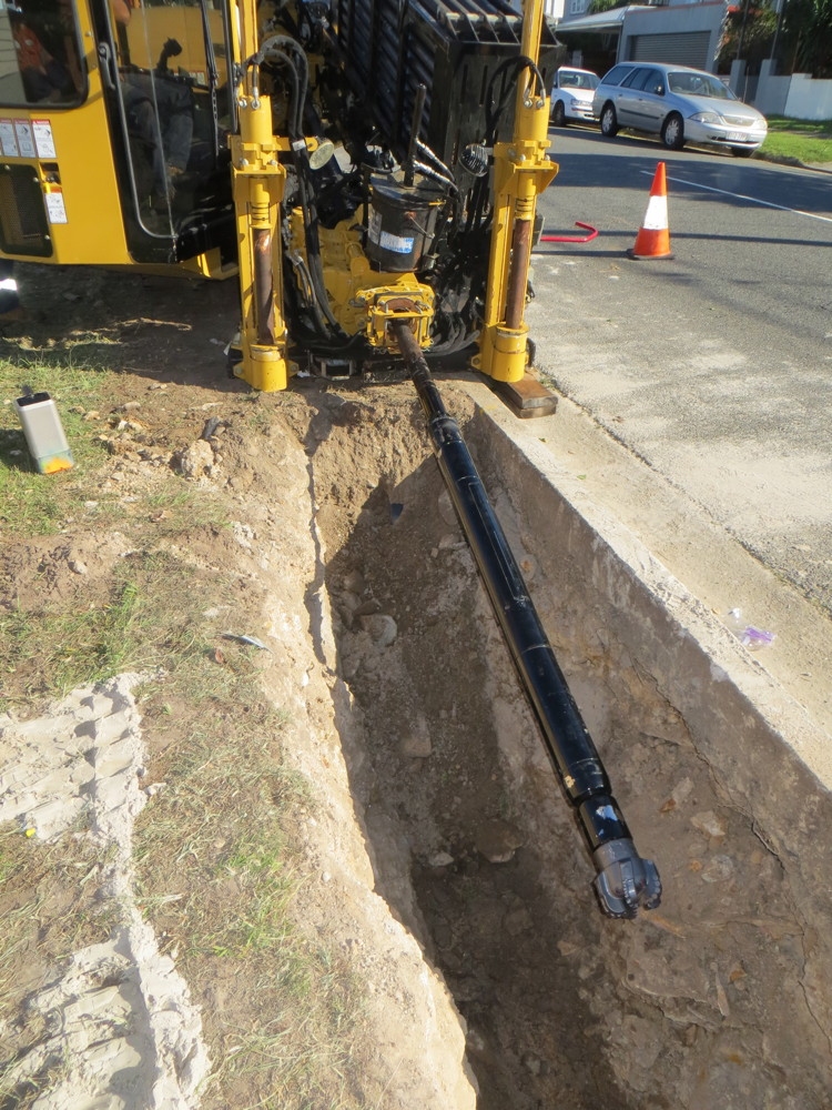 Horizontal drilling for Gas installation