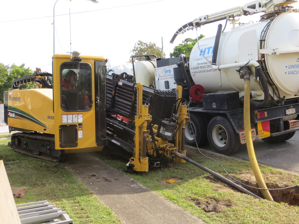 installation of conduit under road for Power