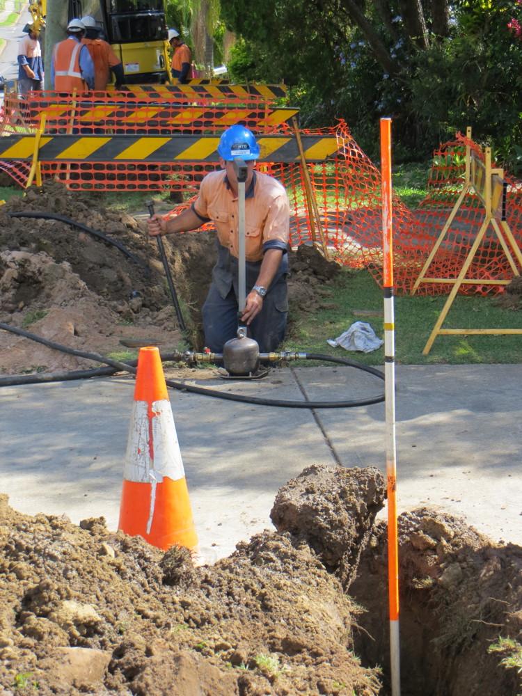 Drilling under driveway - HTD Australia Brisbane